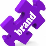 Brand Jigsaw Shows Business Trademark Or Product Label