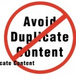 """""""Avoid Duplicate Content"""" sign"""