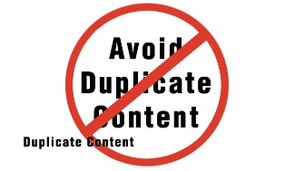 """Avoid Duplicate Content"" sign"