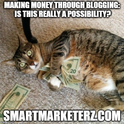 cat holding dollar banknotes