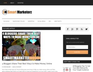 smartmarketerz homepage screenshot