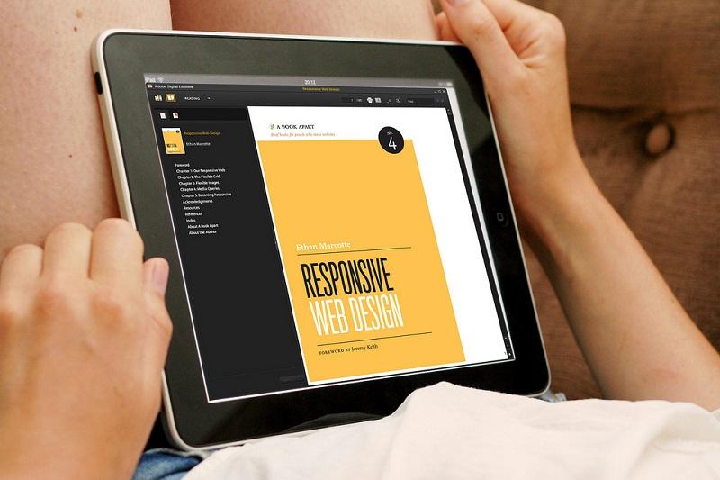 responsive design showing on tablet