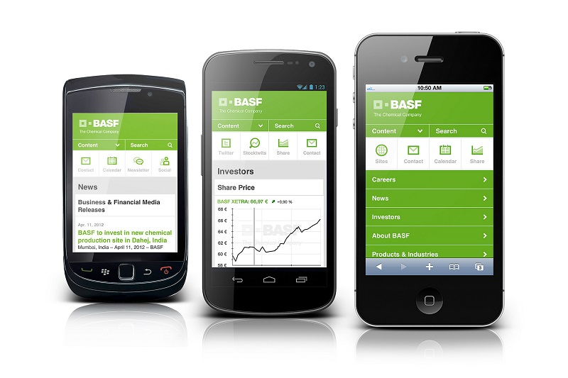 web design on mobile